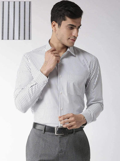Richlook Black & White Regular Fit Formal Shirt