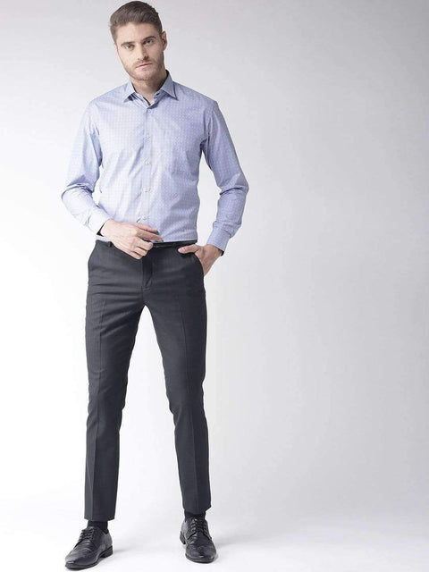 Blue Regular Fit Formal Shirt for Men