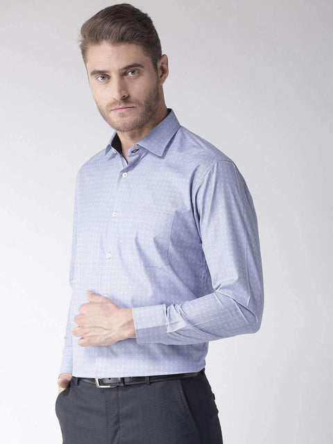 Blue Regular Fit Formal Shirt side view