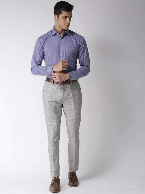Blue Regular Fit Formal Shirt full view