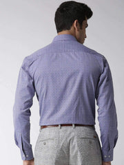 Blue Regular Fit Formal Shirt back view
