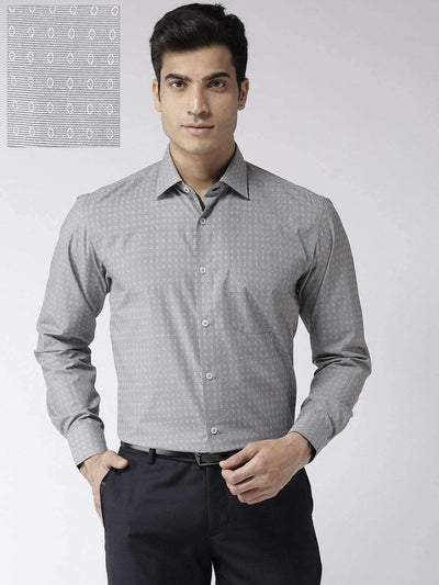 Grey Regular Fit Formal Shirt