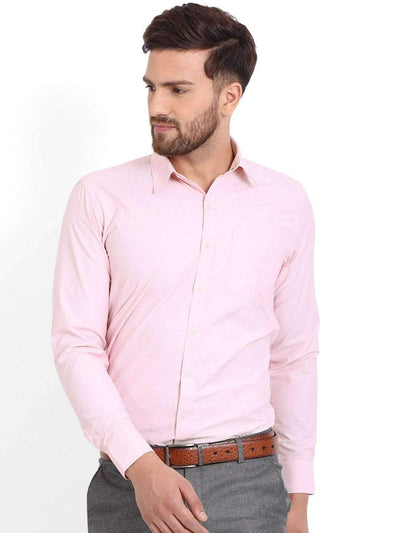 Richlook Formal Shirt Richlook Pink/White Printed Formal Shirt