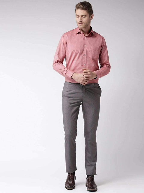 Red Regular Fit Formal Shirt full view