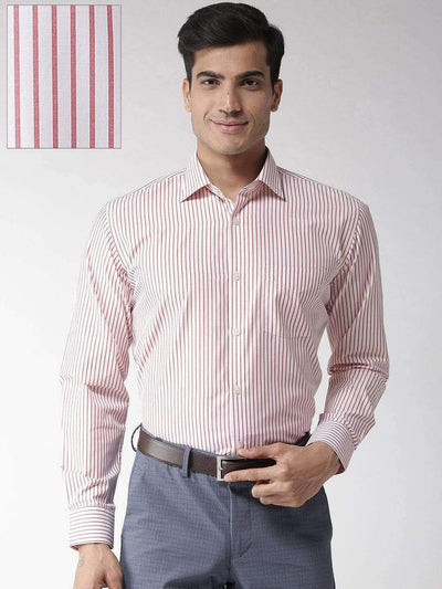 Red & White Formal Shirt
