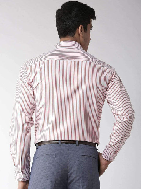 Red & White Formal Shirt back view