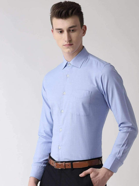 Sky Blue Formal Shirt side view