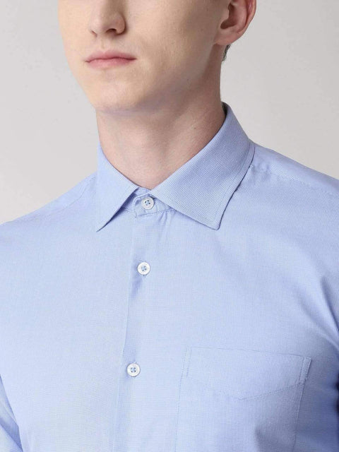 Sky Blue Formal Shirt close view