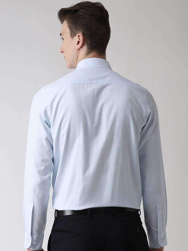 Sky Blue Formal Shirt back view