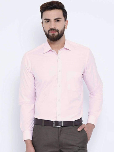 Richlook Formal Shirts Richlook Pink Formal Regular Fit Shirt