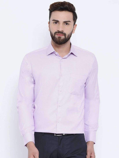 Pink Formal Regular Fit Shirt