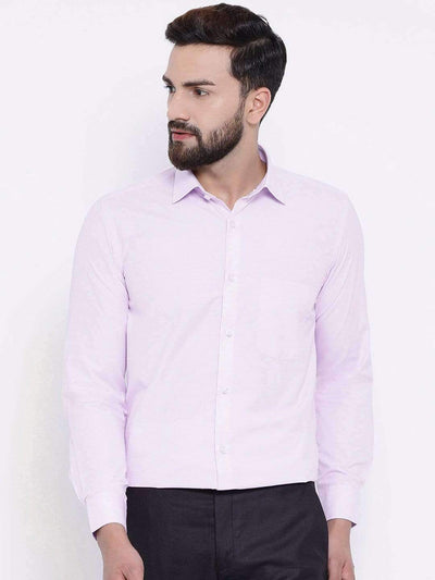 Richlook Formal Shirts Richlook Purple Formal Regular Fit Shirt