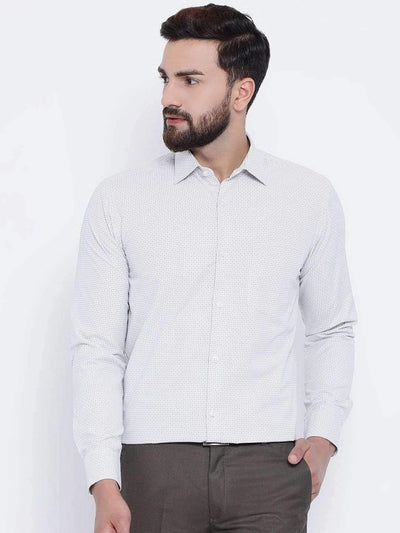 White & Black Formal Shirt