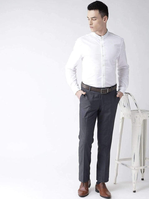 Blue Formal Smart Fit Trouser full view