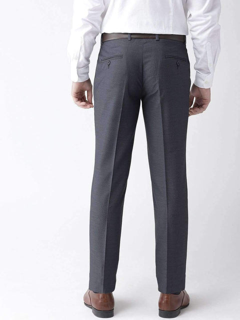 Blue Formal Smart Fit Trouser back view
