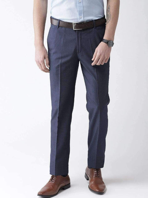 Blue Formal Smart Fit Trouser
