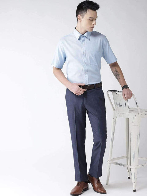 Blue Formal Smart Fit Trouser for Men