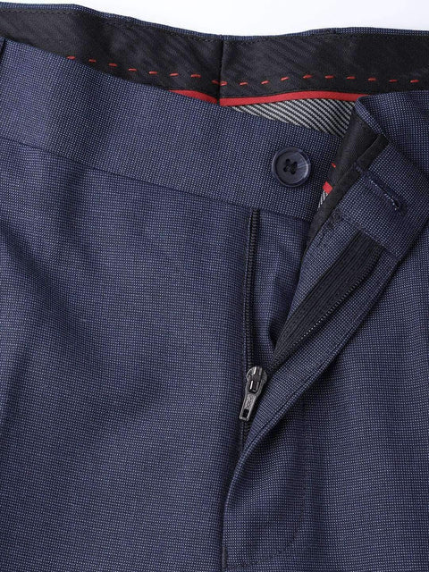 Blue Formal Smart Fit Trouser close view