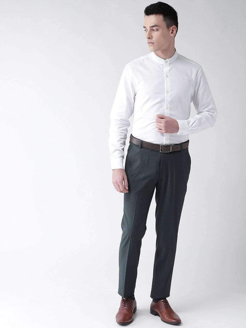 Grey Blue Formal Smart Fit Trouser view