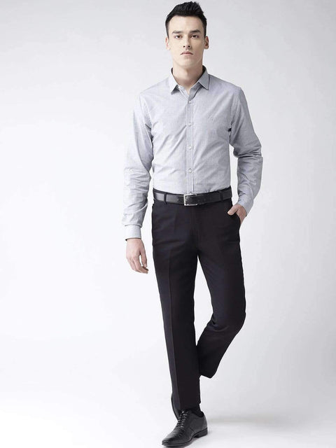 Navy Blue Formal Smart Fit Trouser full view
