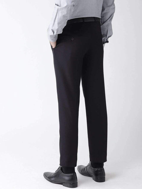 Navy Blue Formal Smart Fit Trouser back view