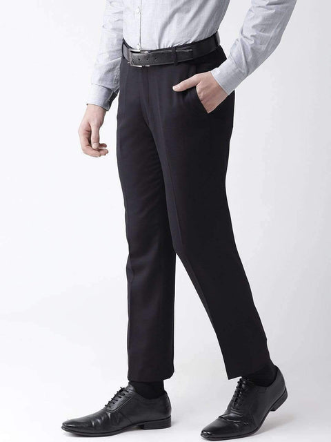 Navy Blue Formal Smart Fit Trouser side view