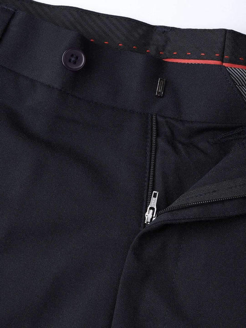 Navy Blue Formal Smart Fit Trouser close view