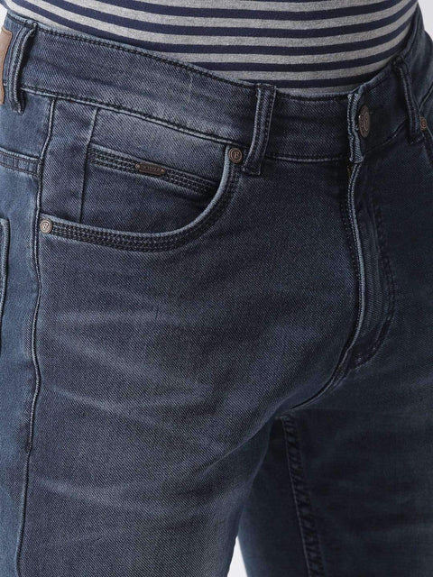 Blue Casual Slim Fit Jeans close view