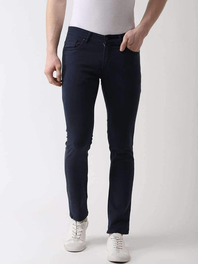 Navy Blue Slim Fit Jeans
