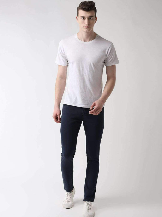 Navy Blue Slim Fit Jeans full view