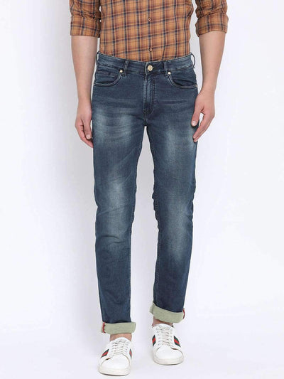 Richlook Blue Casual Classic Fit Jeans