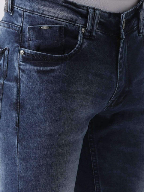 Blue Casual Slim Fit Jeans by Richlook