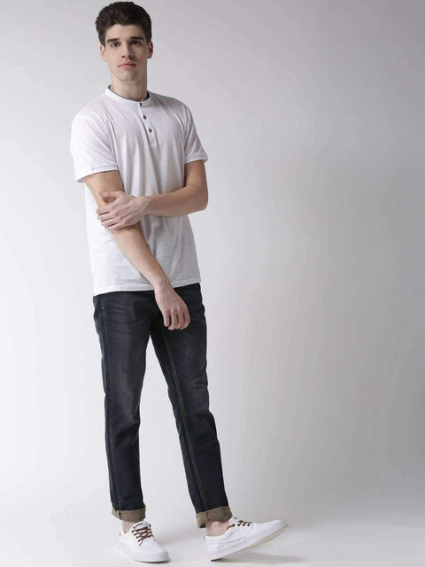 Richlook Blue Casual Slim Fit Jeans