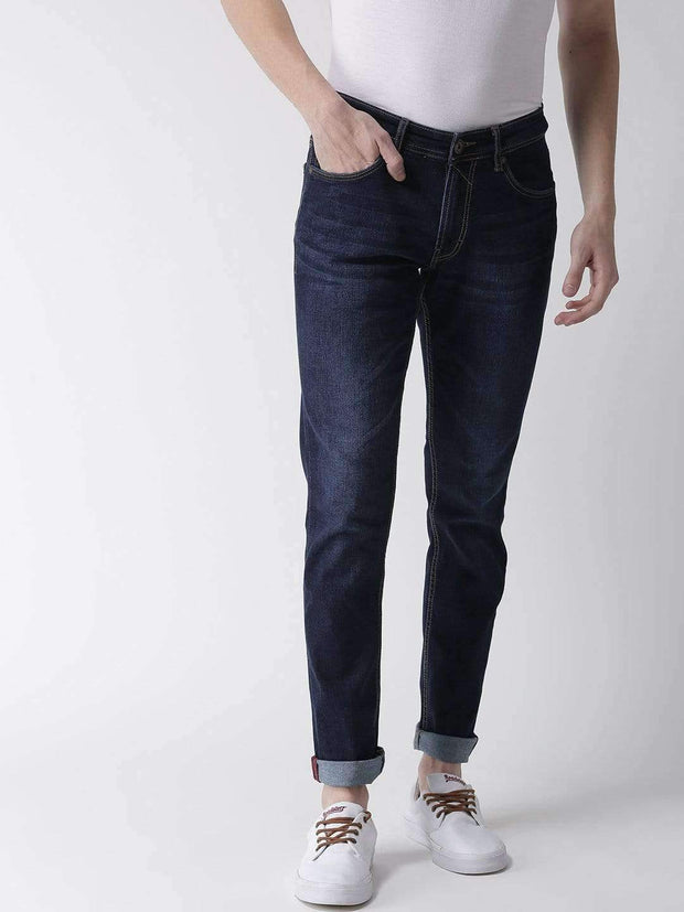 Blue Casual Slim Fit Jeans