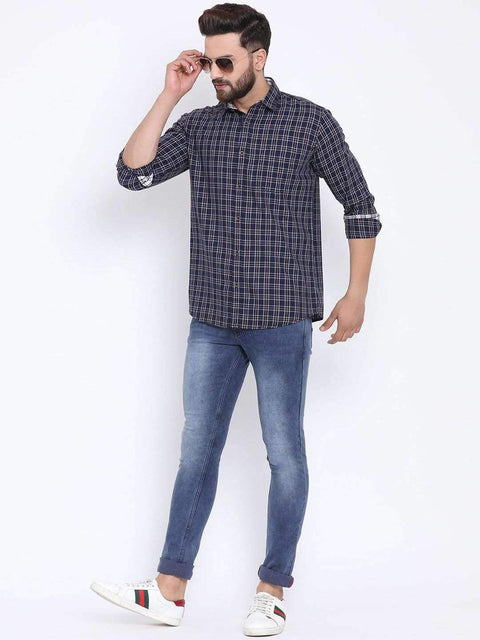 Blue Casual Slim Fit Jeans full view