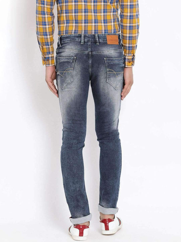 Blue Slim Fit Jeans Back view
