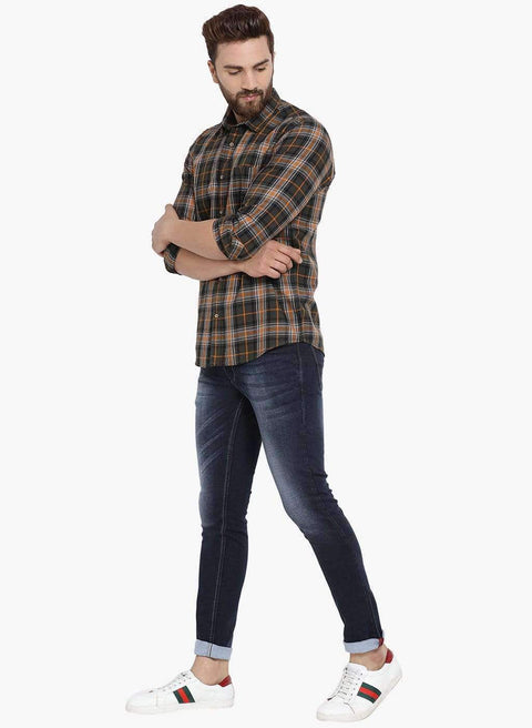 Blue Slim Fit Jeans for Men