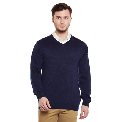 Richlook Blue V Neck Sweater