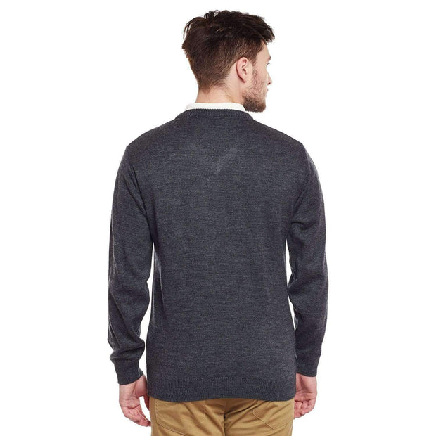 Grey V Neck Sweater view