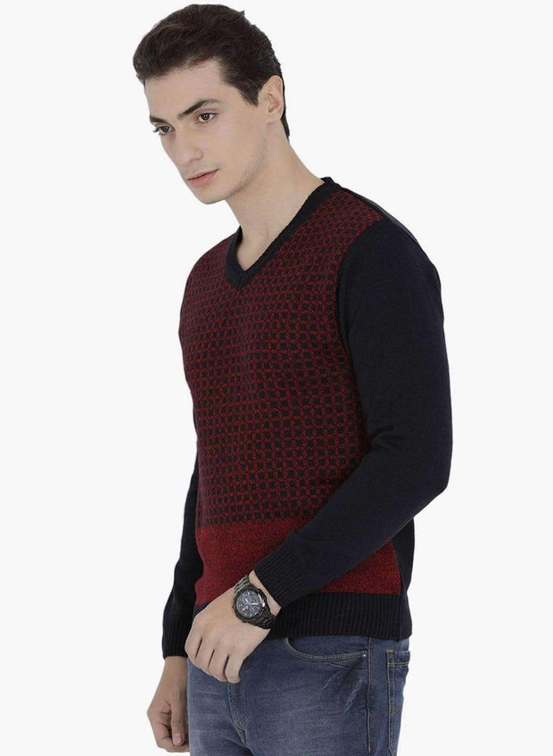 Multi Color V-Neck Sweater side view