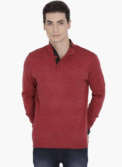 Red Henley Sweater