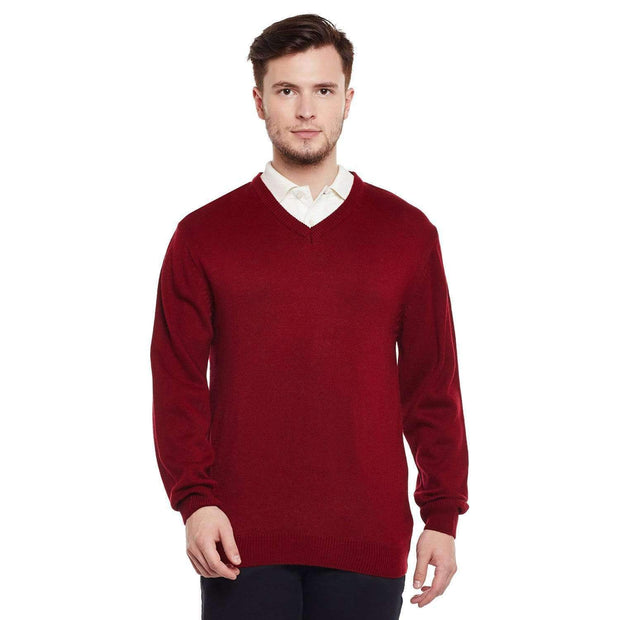 Richlook Sweater Richlook Red V Neck Sweater