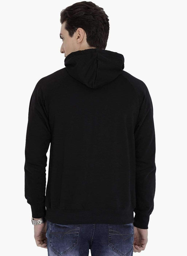 Black Hoodie Sweatshirt back view