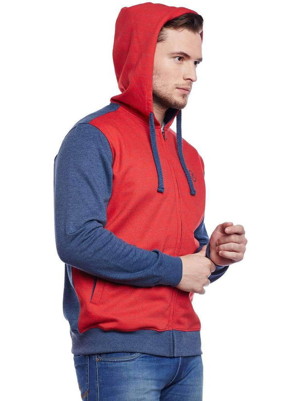Red Hoodie Sweatshirt Side view