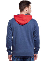 Red Hoodie Sweatshirt back view