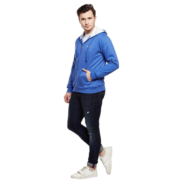 Royal Blue Hoodie Sweatshirt full view