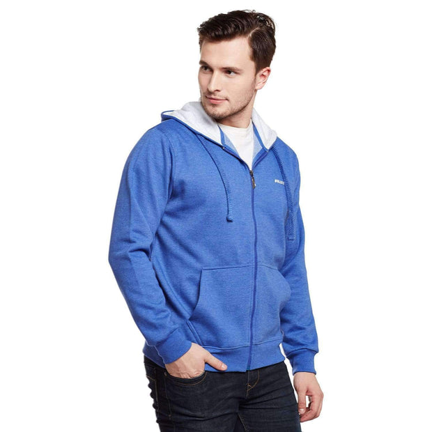 Royal Blue Hoodie Sweatshirt side view