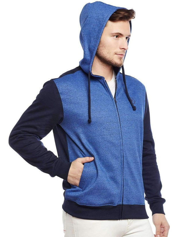 Blue Hoodie Sweatshirt Side View