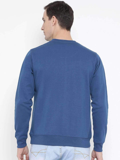Royal Blue Regular Fit Casual SweatShirt Back view