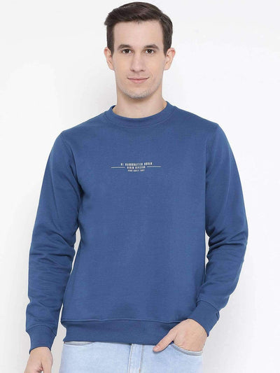 Royal Blue Regular Fit Casual Sweatshirt